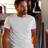 Хлопковая футболка XL батал Германия однотонная белая