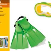 Набор для плавания 55955  (трубка 55922, маска 55913,ласты 55937), (8+ лет) зеленый