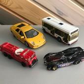 Машинки модельки автобус пожарная