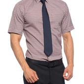 в сине-бело-красную клетку мужская рубашка LC Waikiki с коротким рукавом