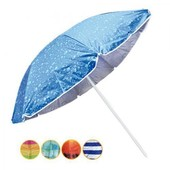 Зонт пляжный d1,8м серебро с наклоном