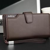 Мужской клатч - портмоне в стиле Baellerry Business коричневое (1063к)