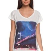 белая женская футболка De Facto / Де Факто с картинкой istambul