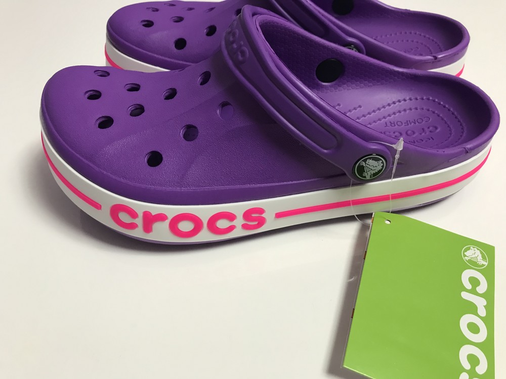 Crocs bayaband clogs pink/papper фото №1