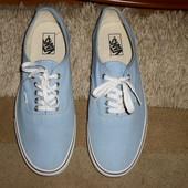 Супер-Стильные голубые бренд.мокасины Vans,Америка,оригинал