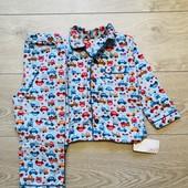 Пижамки фланеливая-байковая primark 92см