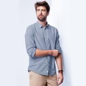 XL(43\44)Tchibo хлопковая льняная рубашка