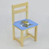 Детский стульчик со спинкой деревянный Мася 27 см от пола