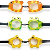 55603 очки для плавания от 3-х лет Intex три вида