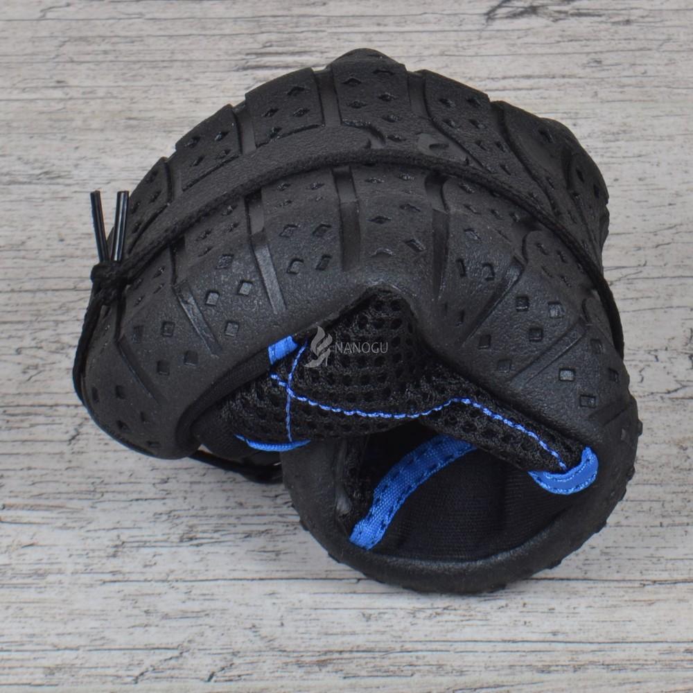 Акваобувь мужская для плавания тапочки для кораллов и моря черные с синим для плавания фото №2
