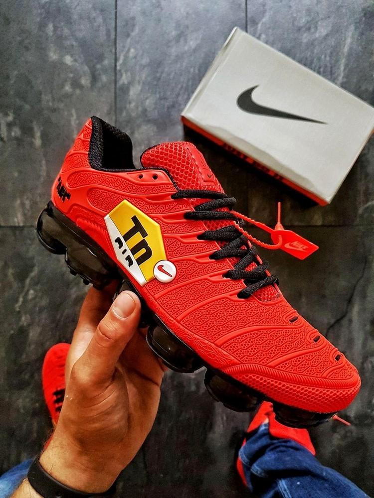 Кроссовки  Nike tn Air vapormax plus caoutchouc\Red фото №1