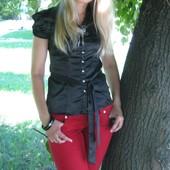 Красивая блузка с тоненького атласа, производство США, состояние новой вещи !!!