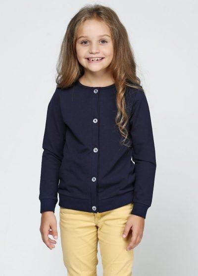 Синий кардиган (кофта) для девочки. фото №1