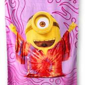 Огромное,красивое пляжное полотенце Disney Minions.Оригинал.Хлопок. 70 см на 140 см. Одно на выбор.