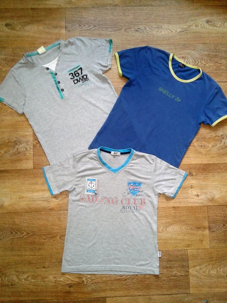 Футболка, тениска, безрукавка на мальчика. 9-13 лет. выбор фото №1