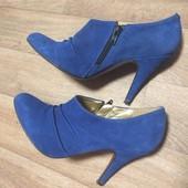 Туфли из натуральной замши - размер 38