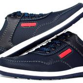 Мужские кроссовки - туфли синего цвета Львовской фабрики (КЛС-3сб)