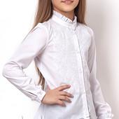 Школьная блуза с вышивкой р. 140-146