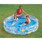 Детский надувной бассейн Подводный мир, 183х33 см, 480 л