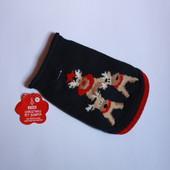 Костюм вязаная накидка на маленькую собачку новогодняя тематика