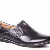 Туфли для мальчика Кожа Kangfu C697-2 черные 31-36, 013