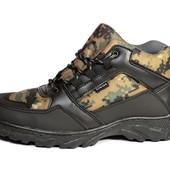 Ботинки зимние, для мужчин в камуфляжной расцветке (ХБ-05)