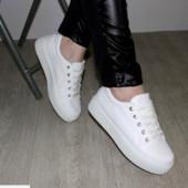 Белые модные криперы 37,39р  23см 24.2 см