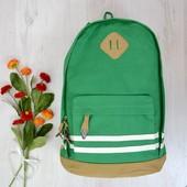 Городской рюкзак светло-зеленый.