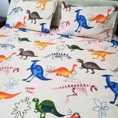 Дино Простыня на резинке в детскую кроватку
