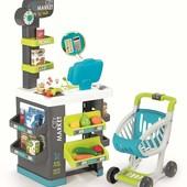 Интерактивный супермаркет Smoby Toys Market со звуковыми эффектами, тележкой и аксессуарами 350212