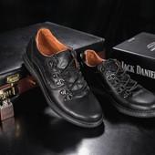 Мужские кожаные повседневные ботинки Clarls черные, код gavk-655
