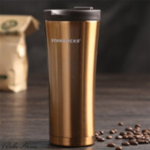 Термокружка Starbucks gold