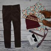 3 - 4 года 104 см Мего крутые штаны узкачи скины коричневые вельвет