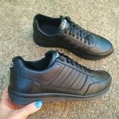 Мужские кожаные кроссовки, р. 40 - 45 код 2508-1