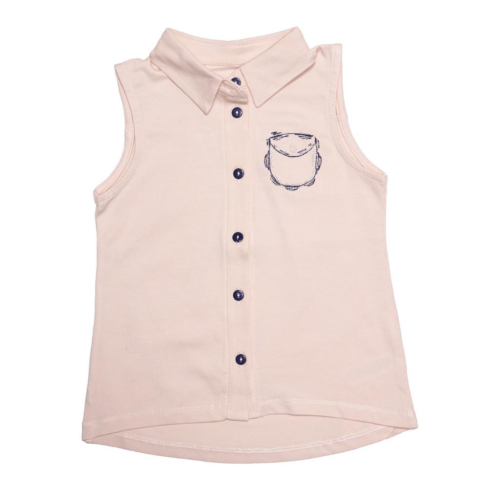 Блуза для девочки, бежевая. фото №1