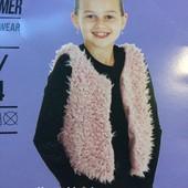 Детская жилетка Fashion favorit на девочку 2-4, 8-10 лет, рост 98-104,134-140