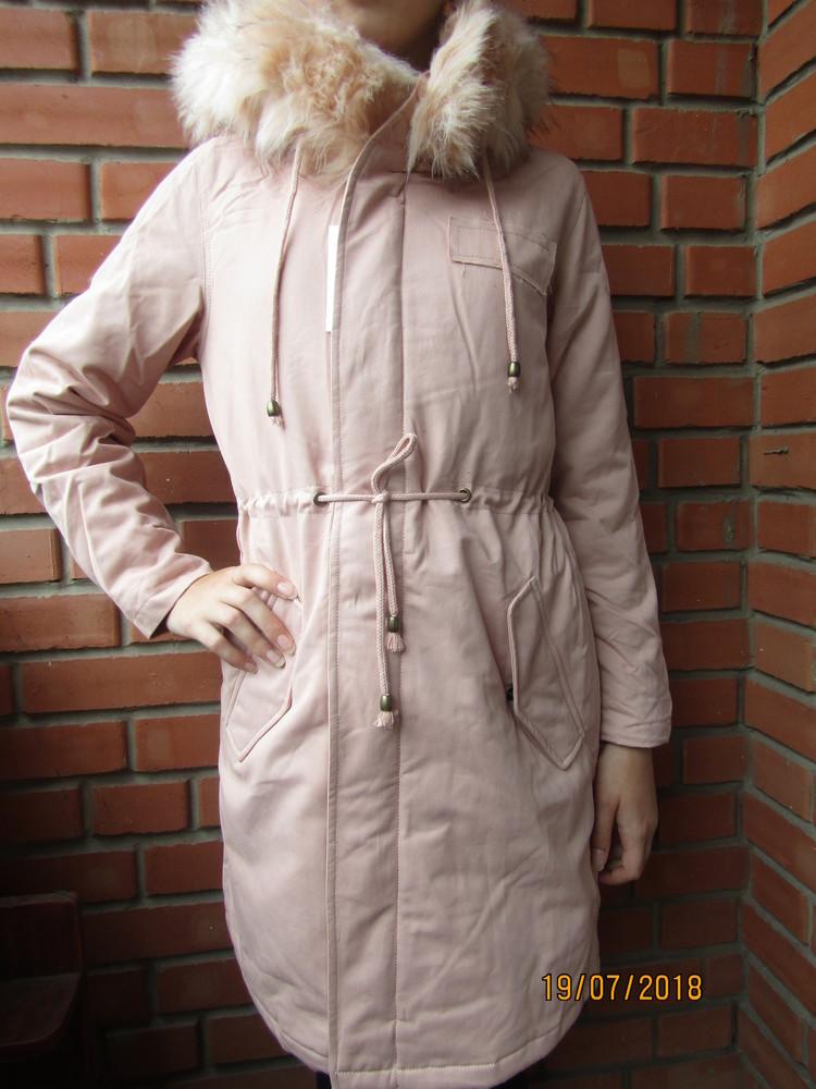 Парка куртка для девочек  деми/еврозима, 158-164-170, венгрия фото №1