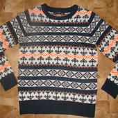 стильный свитер next 11 лет (можно до 12) реально как новый! 10% шерсть