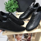 Туфли замшевые и кожаные