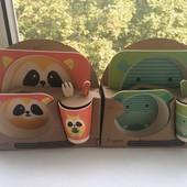 Eco Набор посуды из бамбукового волокна Bamboo Fibre kids set