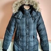 Суперова тепла куртка з капюшоном на дівчинку 12-13р.чи худеньку маму. Заміри,як нова