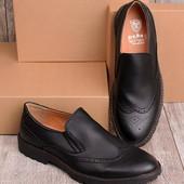 Стильные мужские туфли черного цвета