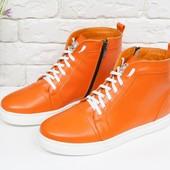Новинка! женские кожаные ботинки/кеды код:ДЖ - Б-430-018