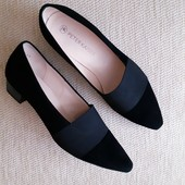 Черные кожаные туфли peter kaizer! 37.5 размер