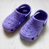 Фиолетовые кроксы сандалии 23 р.