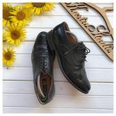 Кожаные туфли броги рр 43