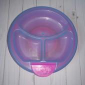 Детская тарелка My baby с подогревом секционная пластик