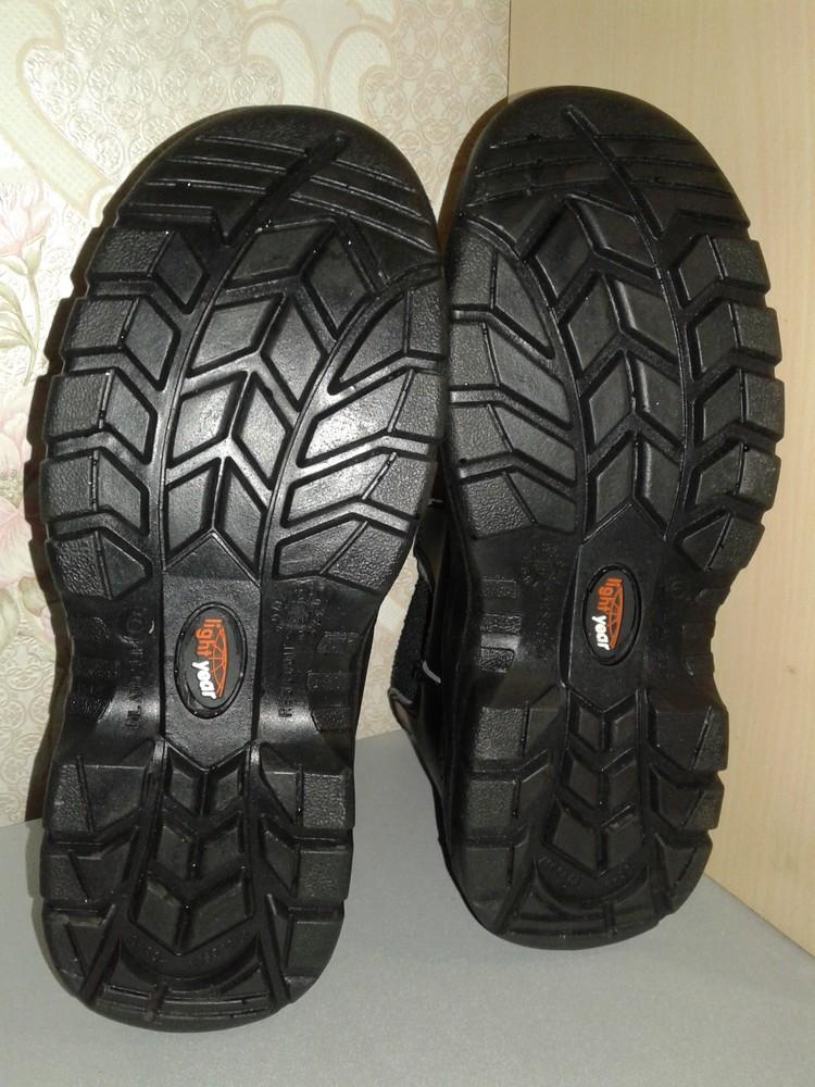 Кожаные рабочие ботинки. спецобувь. размер 39. фото №11