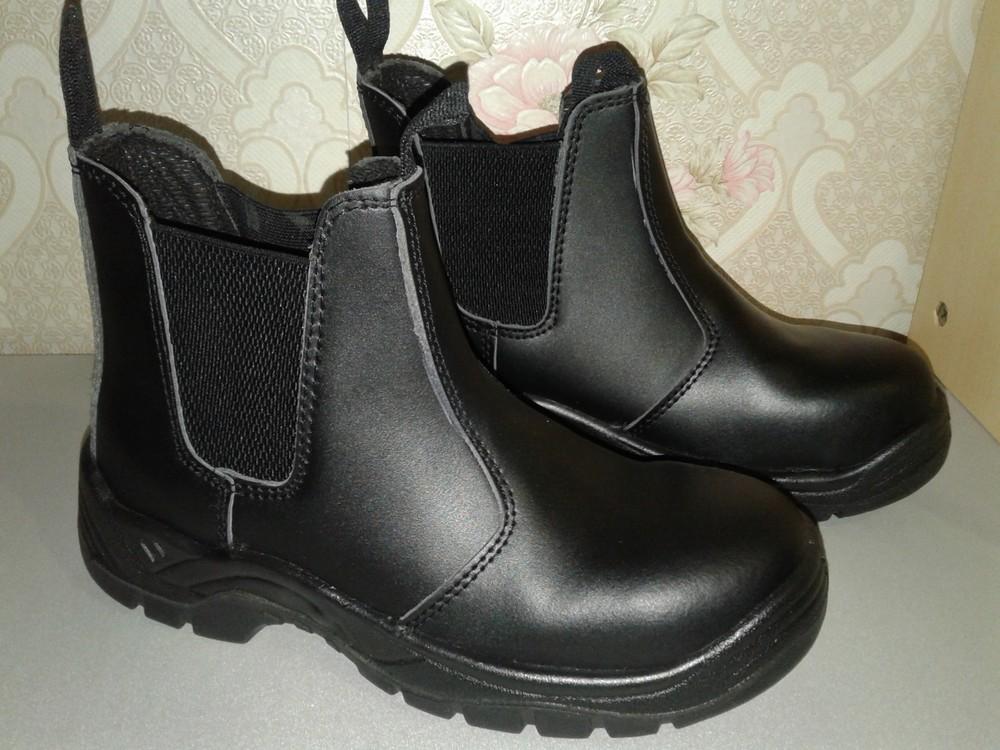 Кожаные рабочие ботинки. спецобувь. размер 39. фото №1