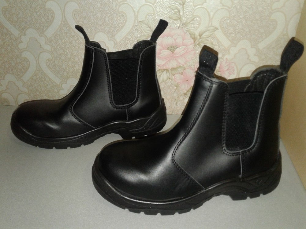 Кожаные рабочие ботинки. спецобувь. размер 39. фото №2